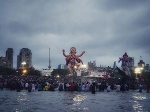 Ganesh Visarjan at Girgaon Chowpatty