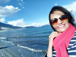 Be like a mermaid and make ur own waves..!#SelfieWithAView#TripotoCommunity