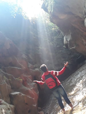 Feeling the rays of sun penetrating from the cave. #BestTravelPictures @ tripotocommunity