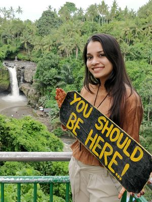 Yeah you should be here... This place from bali is soo amazing... Cool,  peace and Water fall is aws