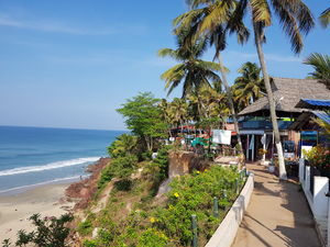 Varkala - A place to Satiate Beach lust #colourblue