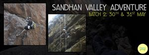 120ft Rappelling and Exploring Sandhan Valley (Batch 1) on 16th and 17th May 2015 !