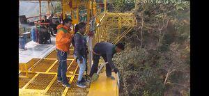 Bunjee jumping...Rishikesh...freakishly adventurous