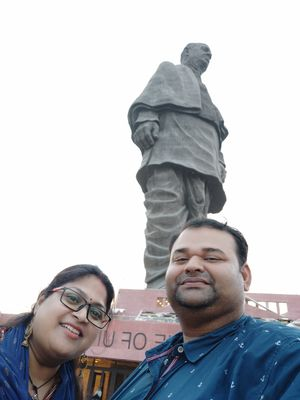 Selfie with d Loh Purush of d nation #Sardar Patel ji #Statue of Unity #world's tallest statue