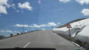 Breathtaking drive through Grossglockener Alpine road in Austria