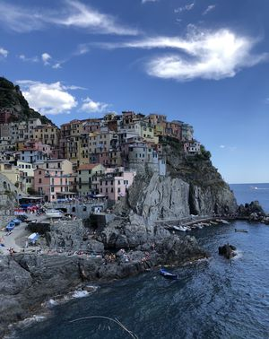 Village Manarola- Cinque Terre In Italy. Is it a painting or is it a town! #BestTravelPictures
