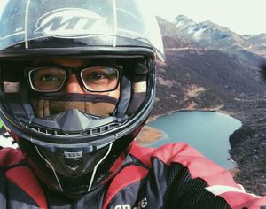 Taking a selfie at 13,500ft ASL #SelfieWithAView #TripotoCommunity