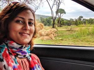 With the focus on lions during the Safari!  #SelfieWithAView #TripotoCommu