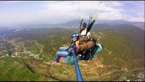 #Paragliding#Wings of freedom#Dare to do things#