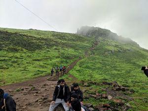 Treking in green mountains, Kalsubai peak