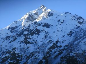 Chandrashila-Trekking summit of the Chandranath Parbat in the Garhwal Himalayas of Uttarakhand
