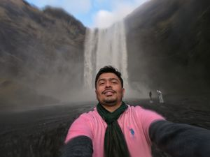 Drenching under the Skogafoss was an experience out of the world. #SelfieWithAView #TripotoCommunity