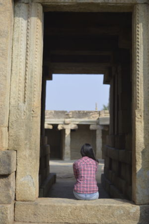2 hours away from Bangalore, lies 500 year old Vijayanagara architectural style #offbeatgetaway