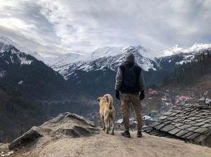 With a man's best friend at tosh village parvati valley...