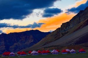 The colourful camps