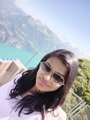 When Heaven falls here #SelfieWithAView #TripotoCommunity #VivoSelfie #Switzerland #GreenLakes