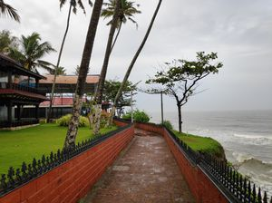 A rainy day at the Varkala Cliff ❤️