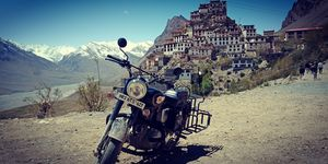 Key Monestaory, kaza, Lahaul spiti valley: when the heights are achieved as a couple, its a bliss