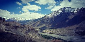 Denkar Monestaory: View worth dying for #spiti #kaza #travel #Couplegoals #Himachal #biketrips #U&Me