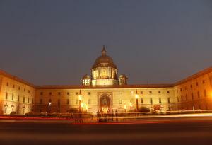 Delhi Photoblog : Blue Hour Photography At Rashtrapati Bhavan, New Delhi