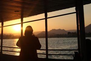 Sunset at Fateh Sagar Lake