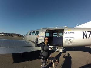 Diving into nature's lap13,000ft above Pacific Ocean #adventureactivity