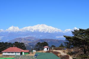 Look at the mighty kanchenjunga i had  seen so close  ....