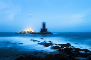 Amazing Rock Memorial of Swami Vivekanand in Kanyakumari over Indian Ocean @tripotocommunity
