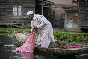 Kashmir's famous floating market