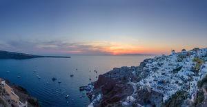 Breathtaking Santorini Sunset   #TriptoTakeMetoGoa #Besttravelpictures