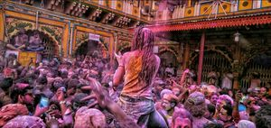 Wildest, yet colorful Holi in Mathura and Brindawan