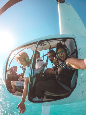 Helicopter Ride above the azure ocean! #SelfieWithaView #Tripotocommunity