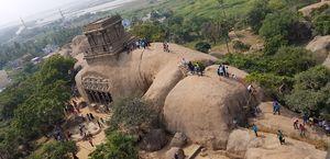 Mahabalipuram - Splendid sculpture by the side of Bay of Bengal