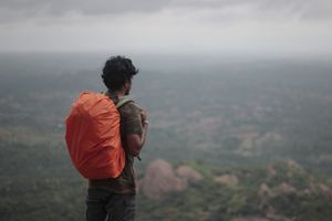 Monsoon Travel Tip for Backpackers -Quechua rain cover.