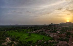 Sun setting in to the boulders. Theme: Landscape #BestTravelPictures @tripotocommunity