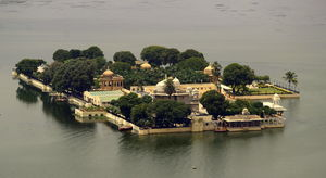 Palace at center of lake. #BestTravelPictures @triptocommunity