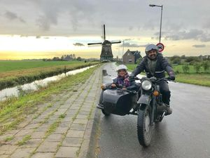 This is how we travelled in Amsterdam countryside#Best travel pictures# landscape@ tripotocommunity