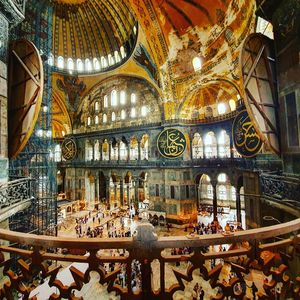 Hagia Sophia, used as a church for 900 years and then over 300 years as a mosque.