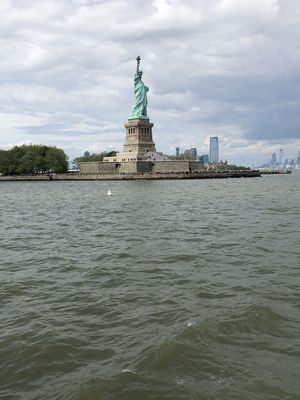 The Lady in Green????standing tal in the Liberty Island symbolizing Enlightenment,Knowledge,Freedom&