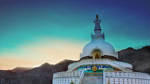 #BestTravelPictures Lord's abode in the mountains- Shanti Stupa @tripotocommunity