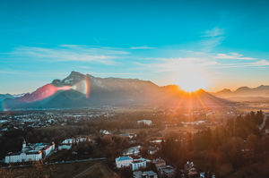 Sunset at Salzburg #BestTravelPictures #Sunset
