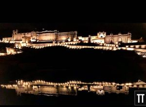 Amer Fort looking at it's reflection. #BestTravelPictures