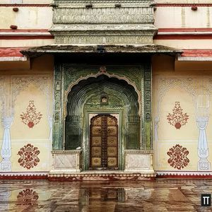 The Leheriya Gate drenched in rain. #BestTravelPictures