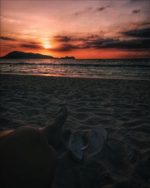 Sunset stories of Patong Beach.
