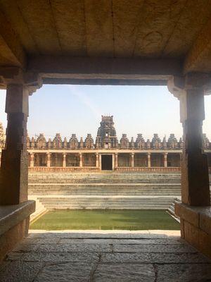 #BestTravelPictures @tripotocommunity Pushkarni.. reflection in water..