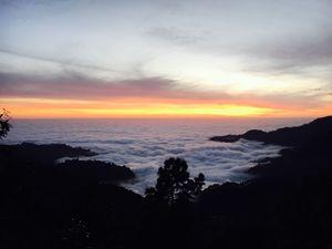 #nainital #sunset #fog #mountain