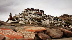 Thiksay Gompa or Thiksay Monastery (also transliterated from Ladakhi as Tikse, Tiksey or Thiksey)