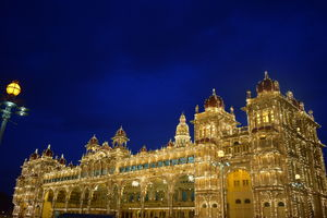 Mysore palace lit up on one sunday evening ✨ #TripotoTakeMeToGoa