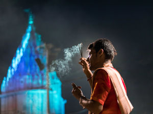 The ghats of bananas comes to life in the evening and the vibe of the gangs aarti is mesmerizing