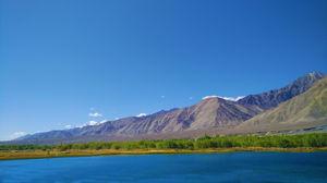 Ladakh picture  Zanskar River . A trekking time click picture a scenari. Phone camera clicking.